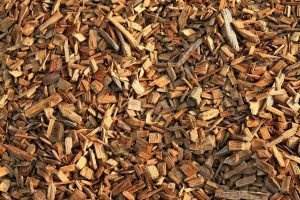 Wood mulch chips for use in the vegetable garden