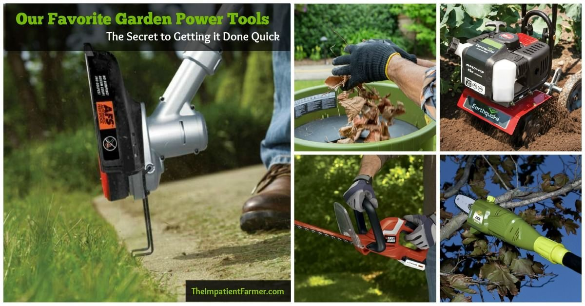 These 8 garden power tools will make your outdoor chores a breeze. From shredders to pole saws, rototillers and more, we share the best time-saving outdoor tools.