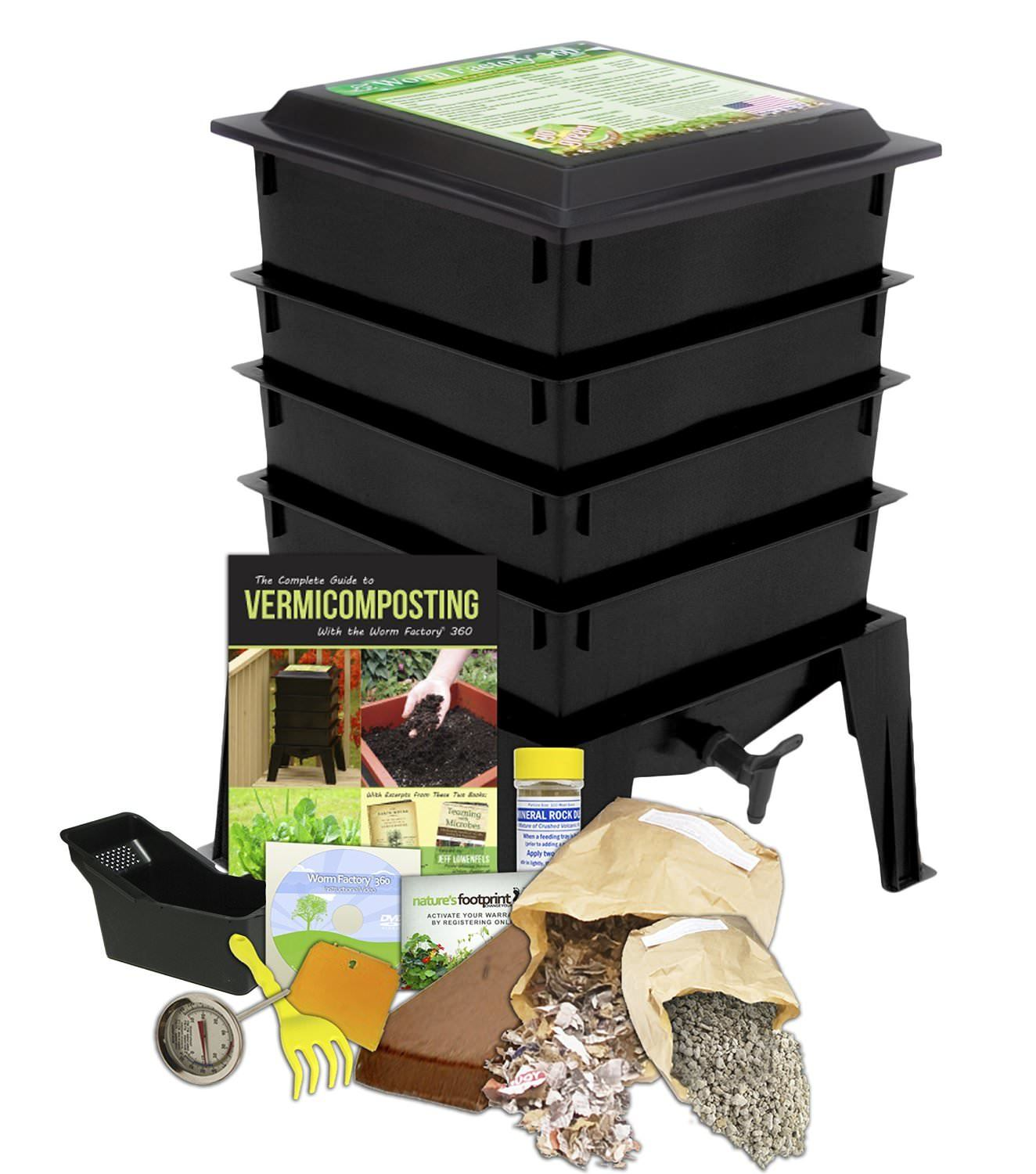Worm Factory 360 Worm Composting Bin - Live Worm Farm Starter Kit on Amazon