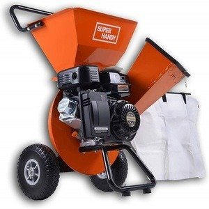 orange wood chipper shredder