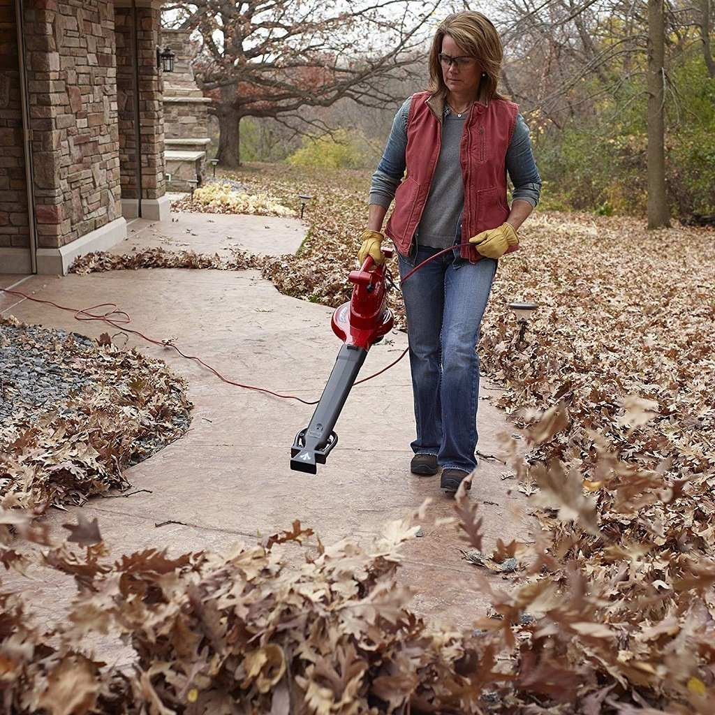 Clearing a path of leaves with the Toro 51621 UltraPlus