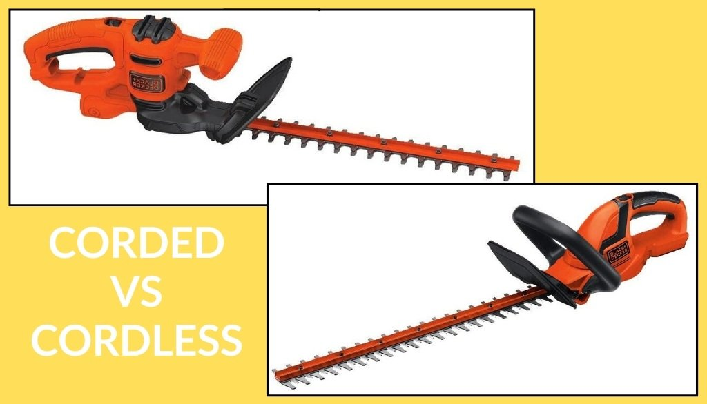 corded vs cordless hedge trimmers