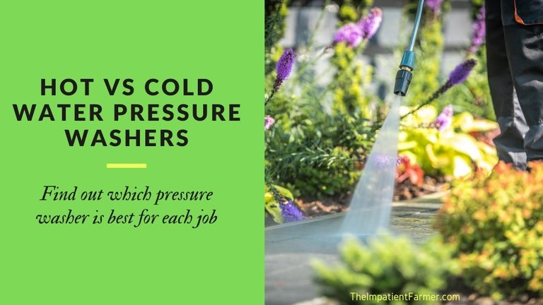 Hot vs cold water pressure washers. Find out which pressure washer is best for each job