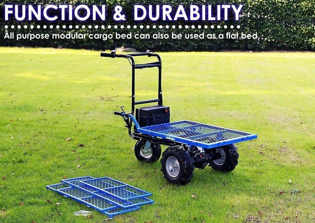 Landword utility cart transforms into a flatbed