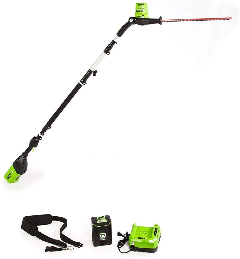 Greenworks 80V 20 inch Cordless Pole Hedge Trimmer